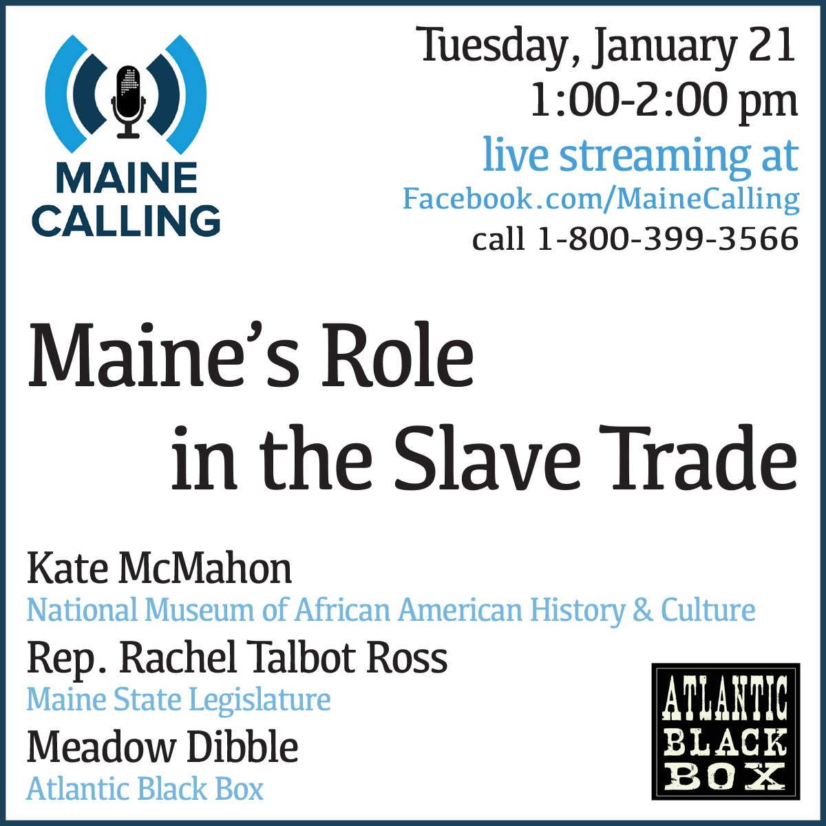 Maine Calling Show